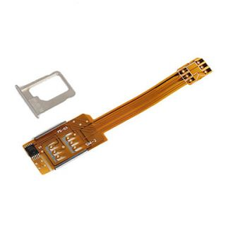 Dual Sim Card Adapter for iPhone 5 (GSM/3G Supported)