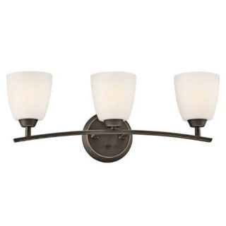 Kichler 45360OZ Bathroom Light, Transitional Bath 3Light Fixture Olde Bronze