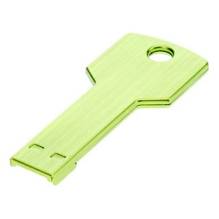 Key Shaped Metal USB Flash Drives 2G(Green)