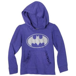 Batgirl Infant Toddler Girls Long Sleeve Hooded Tee   Purple 18 M