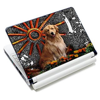 Golden Retriever Pattern Laptop Notebook Cover Protective Skin Sticker For 10/15 Laptop 18624
