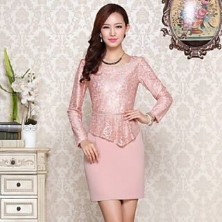 Womens Sheath Lace Dress