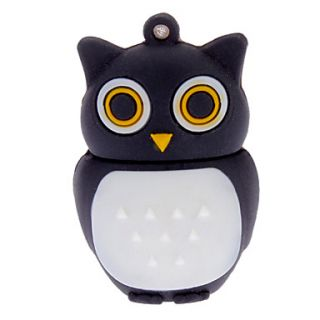 2GB Soft Rubber Night Owl USB Flash Drive