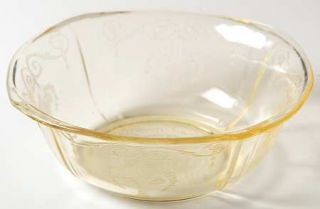 Indiana Glass Lorain Yellow Salad Bowl   Yellow, Basket,Depression Glass