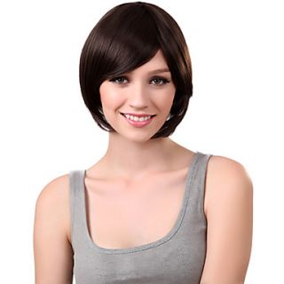 Capless Short Brown High Quality Synthetic Hair Wig