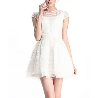 HAND Womens Basic Lace Dress