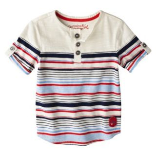 Genuine Kids from OshKosh Infant Toddler Boys Short Sleeve Striped Henley Tee