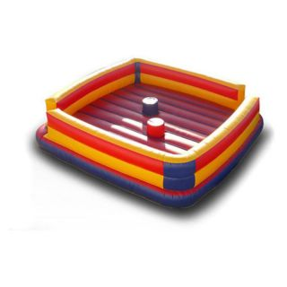 EZ Inflatables Gladiator Joust Bounce House Multicolor   I121