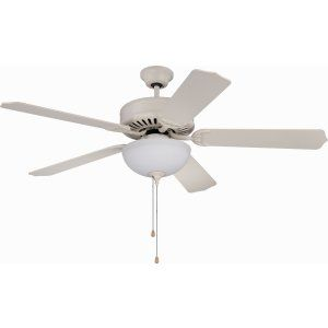 Ellington Fans ELF E201AW Pro 201 52 Ceiling Fan Motor only with Optional Light