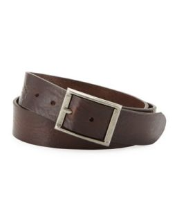 Rivergate Mens Leather Belt, Dark Brown