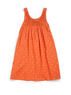 Stella McCartney Kids Toddlers & Little Girls Latticework Sundress   Orange