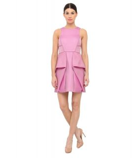 tibi Simona Jacquard Sleeveless Dress Womens Dress (Pink)