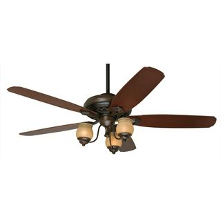 Torrence Provence 64 inch Ceiling Fan With Five Mahogany/ Dark Walnut Blades