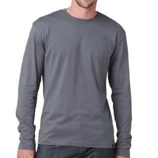 prAna Heritage T Shirt   Organic Cotton  Long Sleeve (For Men)   GRAVEL (L )