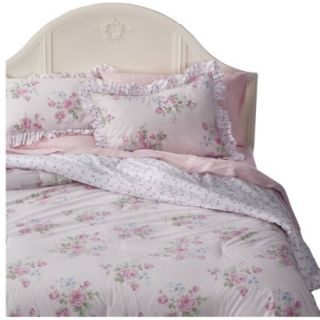 Simply Shabby Chic Misty Rose Comforter Set   Pink (King)