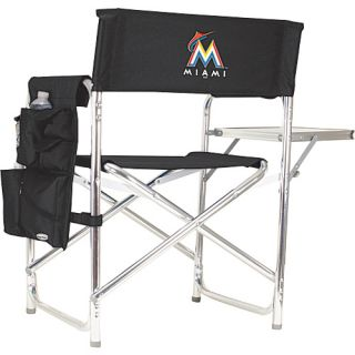 Sports Chair   MLB Teams Miami Marlins   Black   Picnic Time Outdoor