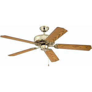 Ellington Fans ELF E52PB Pro 52 Ceiling Fan Motor only with Optional Light Kit