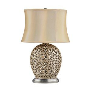 Dimond Lighting DMD D2168 Serene Table Lamp with Light Beige Faux Silk Shade   C