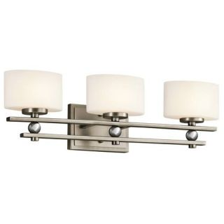 Kichler 45322AP Bathroom Light, Transitional Bath 3Light Fixture Antique Pewter