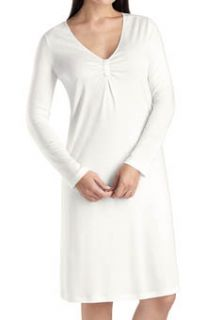 Hanro 7712 Ellen V neck Long Sleeve Gown