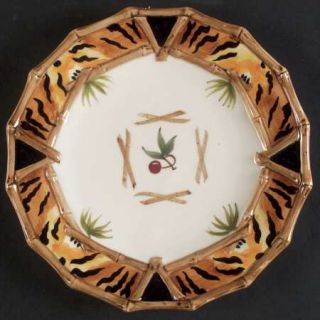 Zrike Bamboo Forest Salad/Dessert Plate, Fine China Dinnerware   Jungle Motif, M
