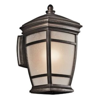 Kichler 49271RZ Outdoor Light, Transitional Wall 1 Light Fixture Rubbed Bronze