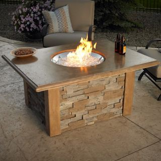 Outdoor GreatRoom Sierra Gas Fire Pit Table Multicolor   FSH067 1, 20 diam. in
