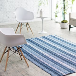 Couristan Bar Harbor Stripe Indoor/Outdoor Rug   Blueberry Crush