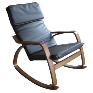 Scandinavian Contemporary Faux Leather Rocking Chair   TXRC 01/CH
