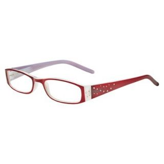 ICU Crystal Rectangle Rhinestone Reading Glasses With Sparkle Case   +1.25