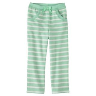 Genuine Kids from OshKosh Infant Toddler Girls Stripe Lounge Pant   Green 2T