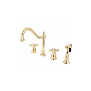 Elements of Design EB1792AXBS Universal Two Handle Kitchen Faucet With Spray