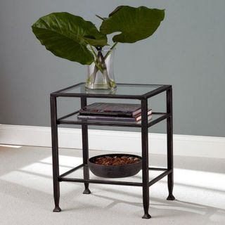Southern Enterprises Black Metal End Table   CK8772