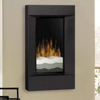 Dimplex Flat Wall Mount Electric Fireplace with Tri Colored Sand and Black Trim