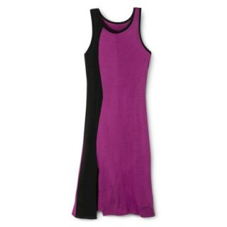 Mossimo Womens Colorblock Midi Dress   Grape/Black XL