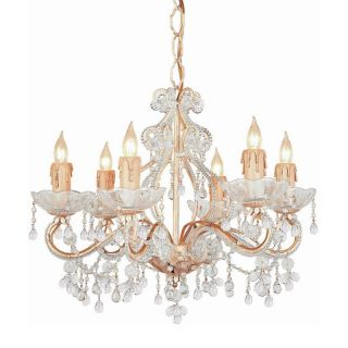 Crystorama 4507 CM CLEAR Paris Flea Market Crystal Chandelier   18W in.