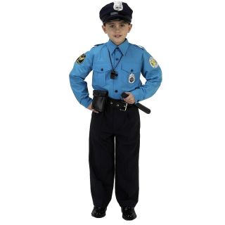 Jr. Police Officer Suit Child Costume