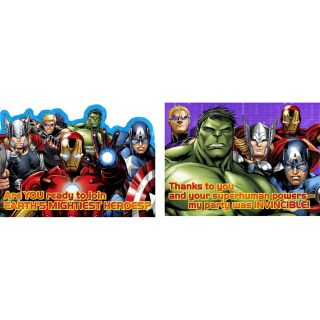 Avengers Assemble Invitations Thank You Postcards